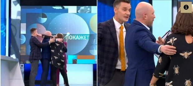Монтян в прямом эфире побила польского провокатора