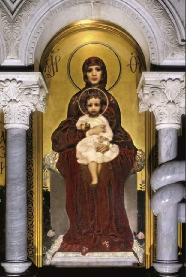 Врубель Богоматерь с Младенцем. 1885. Кирилловская церковь, Киев