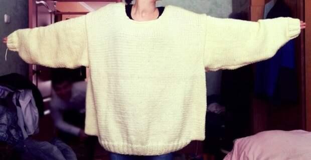 Растянулся свитер после стирки