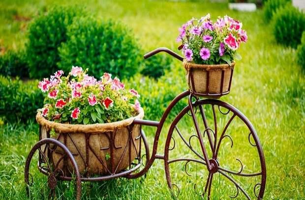 Очень стильная клумба для цветов - главное украшение участка.