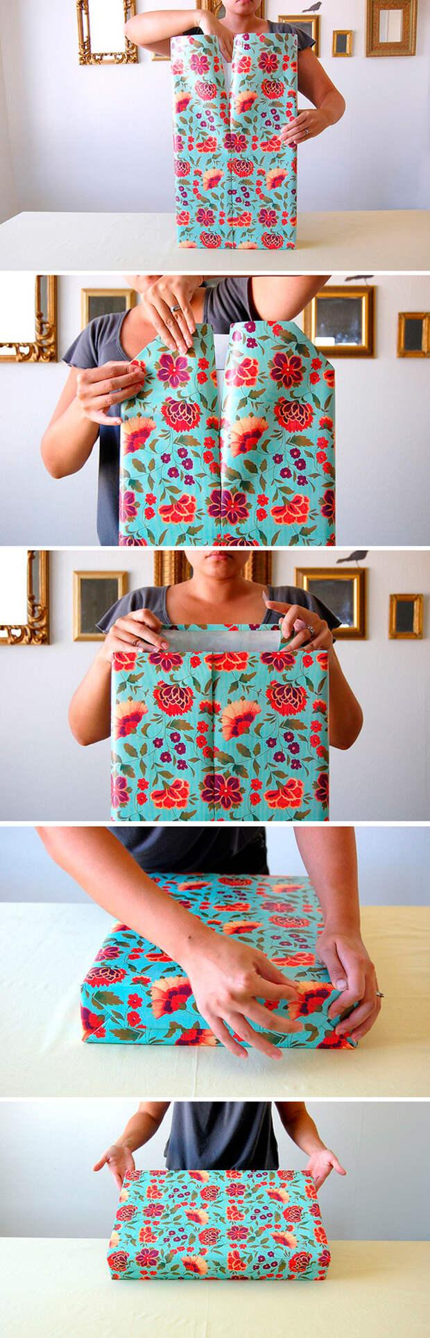 упаковываем подарок самостоятельно классический способ