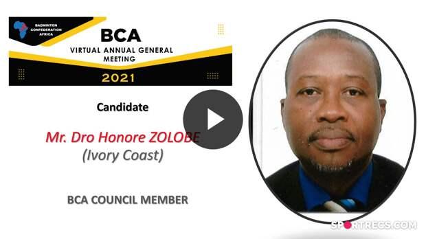 BCA Council Elections 2021 - Dro Honore ZOLOBE (CIV) - Council Member