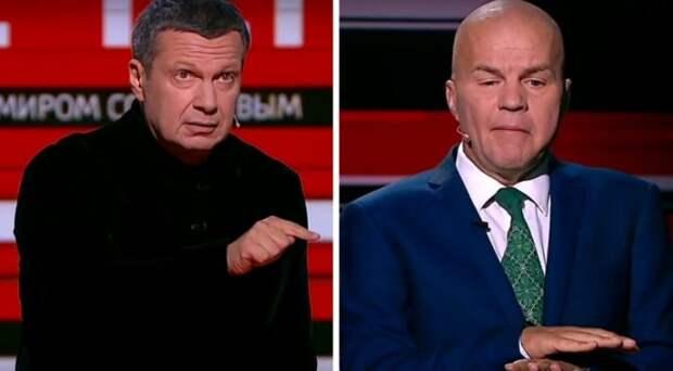 «Ты что, натовец? Слушай сюда»: Соловьев ответил Ковтуну, пригрозившему России размещением ракет США на Украине