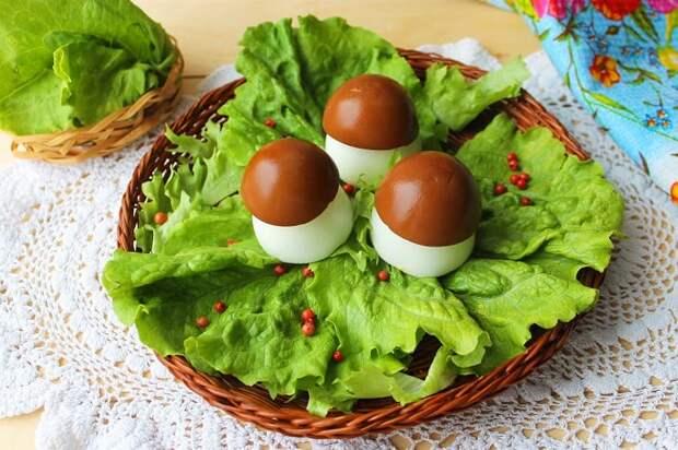 Яйца фаршированные Боровички. Оригинальная закуска на праздник 5