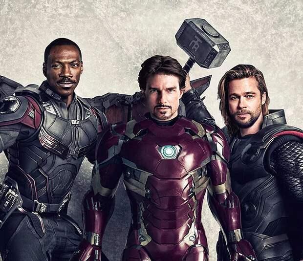 4 фото, как выглядели бы актеры из «Мстителей», если бы их подбирали в 90-х