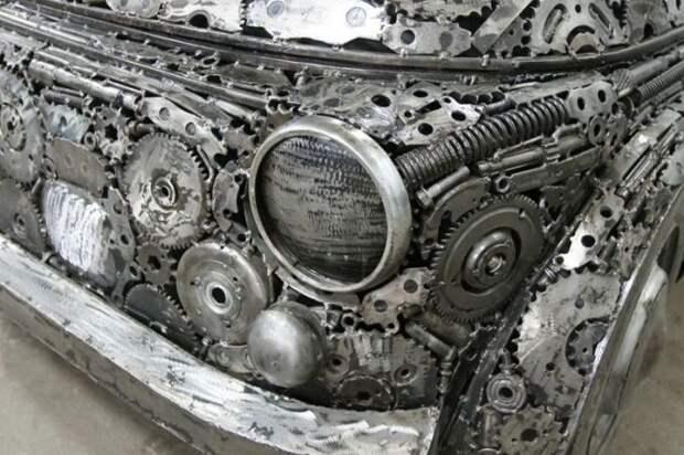 Автомобили из метаталлолома (9 фото)