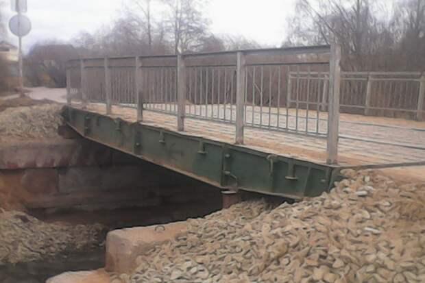 Разборный мост через реку Игерманку установили в Ижевске