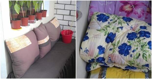 Чтобы одеяло не мешало: оригинальный способ хранения постельных принадлежностей