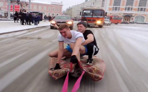 На ковре, но не самолете прокатились блогеры Нижнего Новгорода