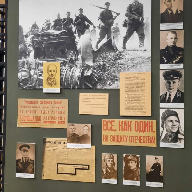 Портрет Н.В. Сиротинина в экспозиции Военно-исторического музея