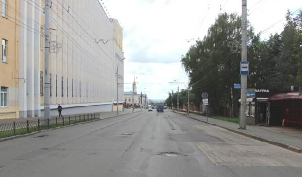 С 5 августа на улице Горького в Ижевске ограничат движение транспорта