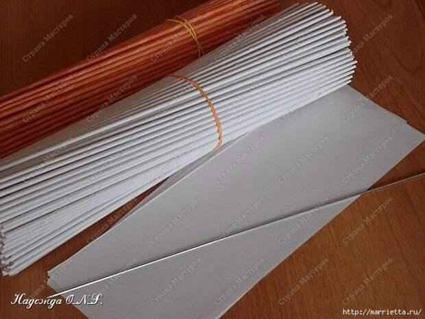 Как сплести поднос из газетных трубочек (17) (650x488, 168Kb)