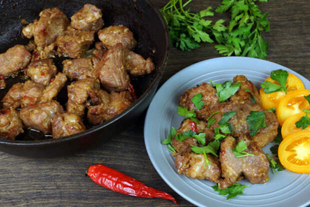 Фото к рецепту: Свинина в соево-имбирном маринаде