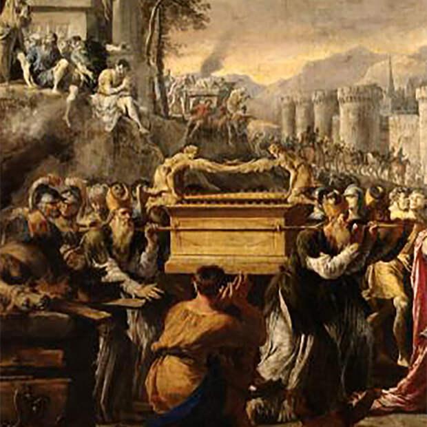 Эпизод картины Перенесение Ковчега Завета царём Давидом в Иерусалим. Доменико Гарджуло, Пушкинский музей.