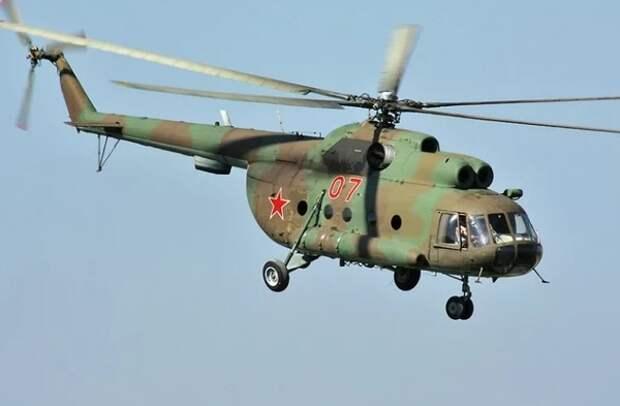 В Казахстане упал военный вертолет Ми-8
