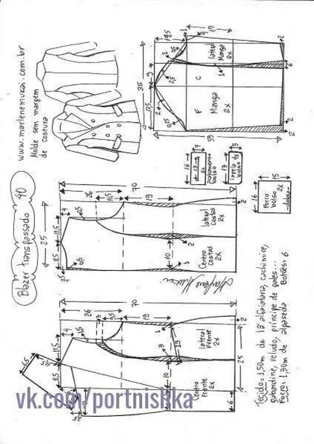 Выкройки объемного женского жакета