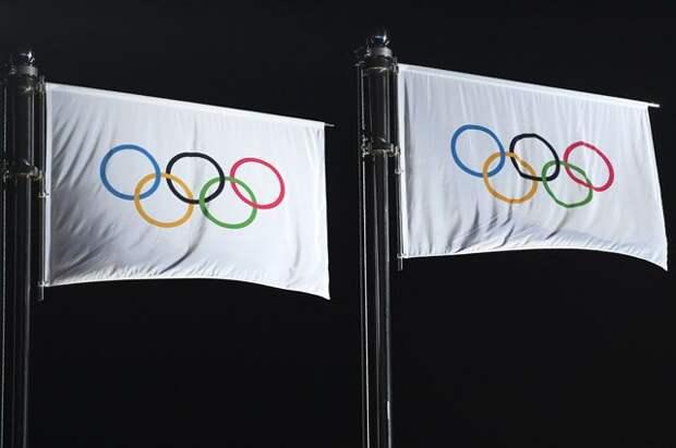 На XXIII зимних Олимпийских играх российские спортсмены выступали под нейтральным флагом.