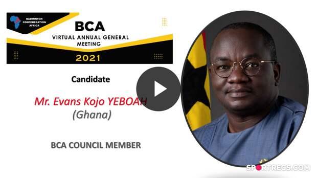 Élections du Conseil de la BCA 2021 - Evans Kojo YEBOAH (GHA) - Membre du Conseil