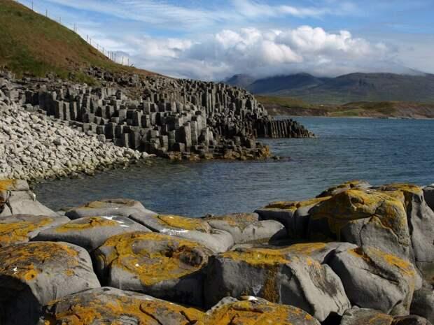 Хофсос, Исландия - базальтовые столбы завораживающе, земля, интересное, красота, пейзажи, природа, фотомир