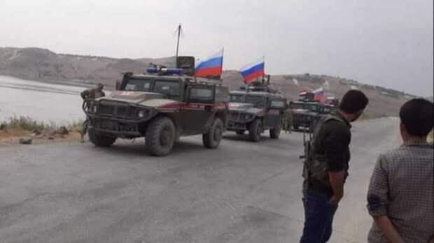 Российские «Тигры» и «Тайфуны» под прикрытием Ми-35 вошли в сирийскую Айн-Иссу