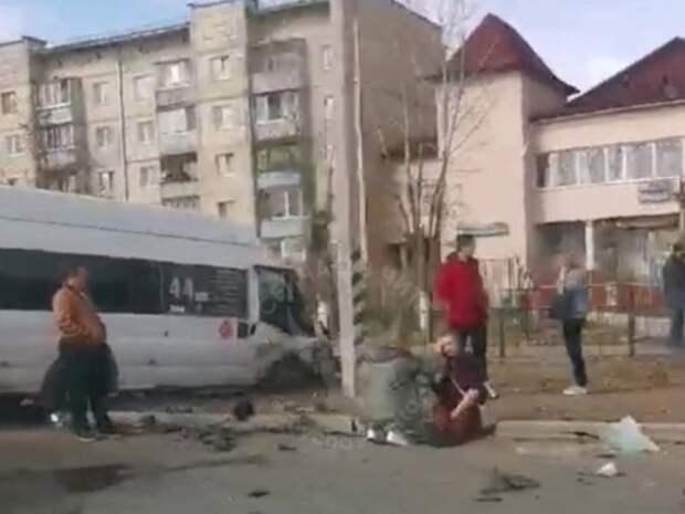 Маршрутка попала в жёсткое ДТП на проспекте Жукова в Чите