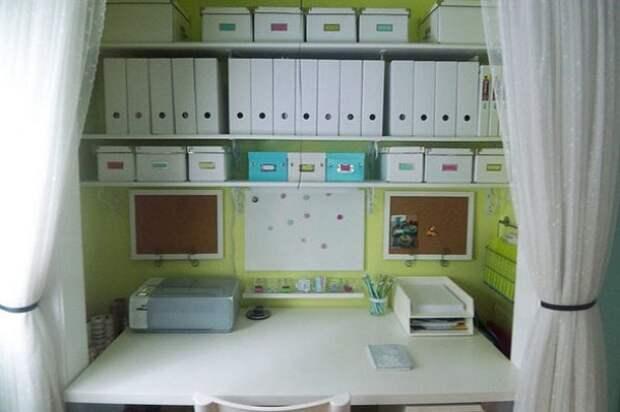 Домашний офис в шкафу: креативные идеи декора