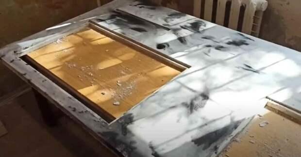 Как сделать бетонную столешницу с имитацией под белый мрамор