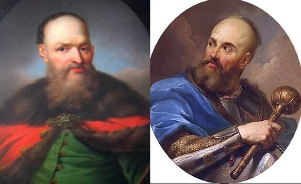 Польские военачальники Стефан Чарнецкий (слева) и Станислав Потоцкий.