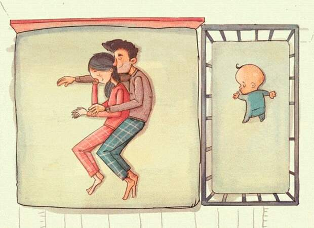 Недосып, хаос и рыдания: художник показал контраст между ожиданием и реальностью родительства
