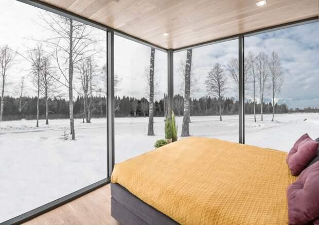 Двое братьев собрали зеркальный дом 18 м² за 8 часов
