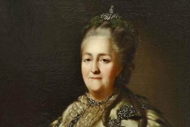 Портрет Екатерины II. Неизвестный художник