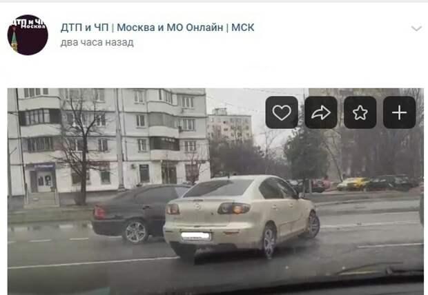 На Дубнинской столкнулись «БМВ» и «Мазда»