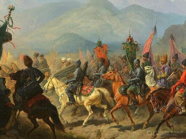 Использование пушек в обороне и атаке в Кавказской войне