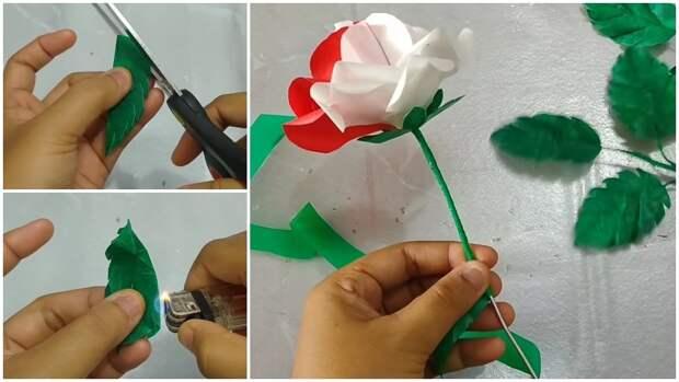 Увидев такие чудесные розы, вы не сможете догадаться из чего они сделаны