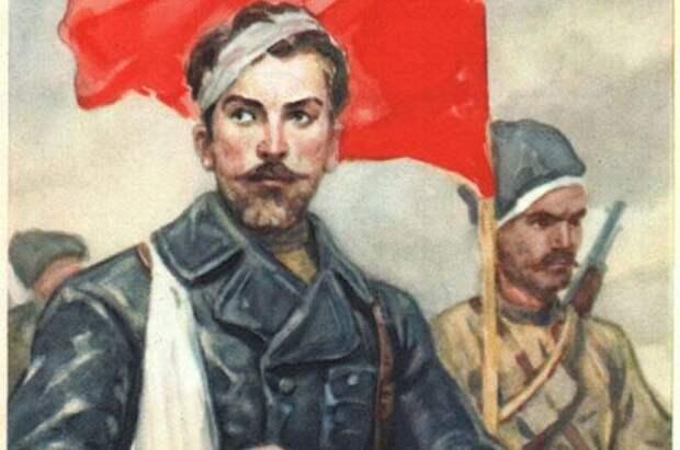 Николай Щорс (открытка «ИЗОГИЗ», СССР, 1961).