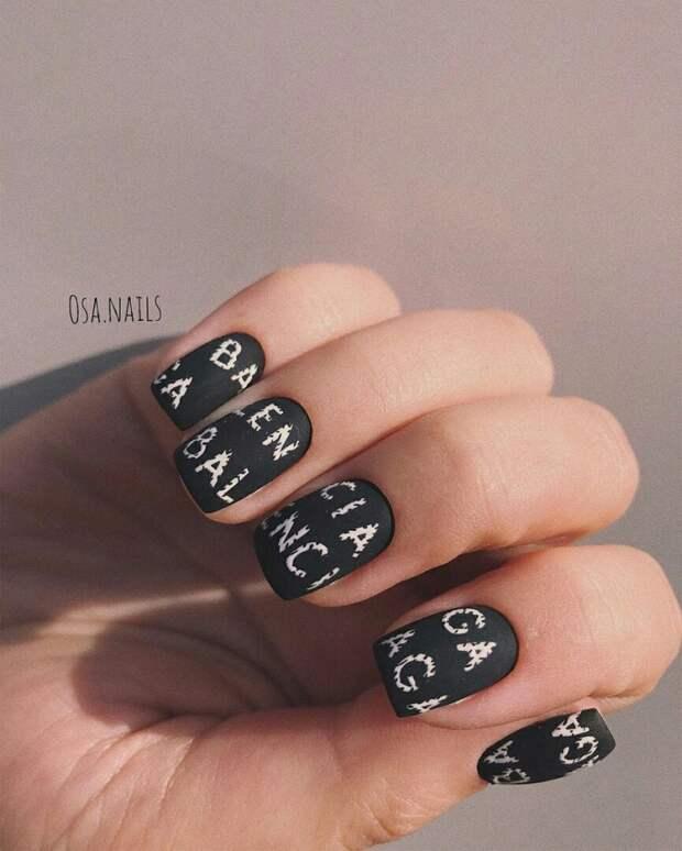 Рисунок на ногтях: по минималу