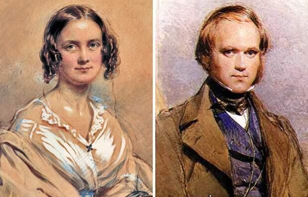 Чарлз Дарвин и Эмма Веджвуд.   Фото: 3.bp.blogspot.com.