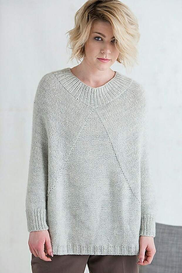 Пончо свитер вязание спицами (Diy)
