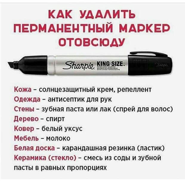 Как удалять пятна от маркеров. | Фото: Deskgram.