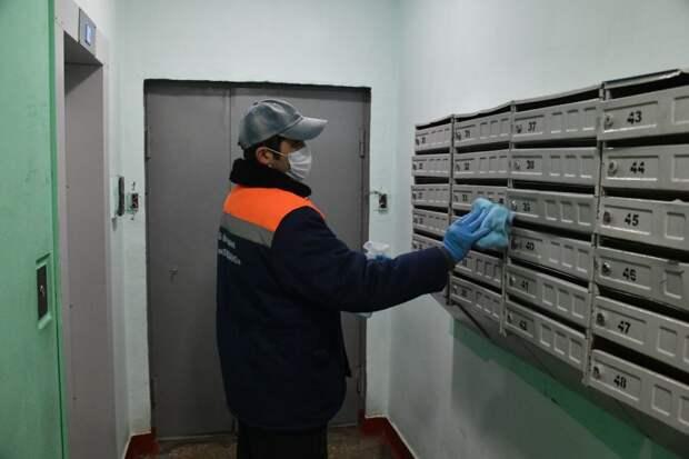 Почтовые ящики также необходимо протирать влажной тряпкой / Фото: Денис Афанасьев