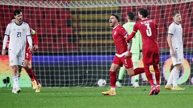 Сборная России пропустила 5 голов от Сербии в Лиге наций и осталась в Лиге В