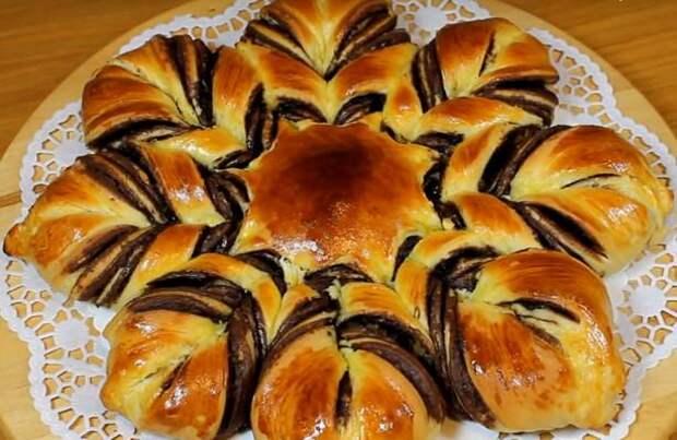 Новогодний шоколадный пирог «Снежинка»