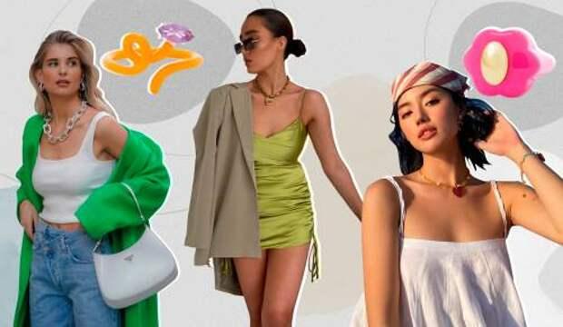 Чокеры из бисера, анклеты и разноцветные кольца: какие украшения мы будем носить этим летом