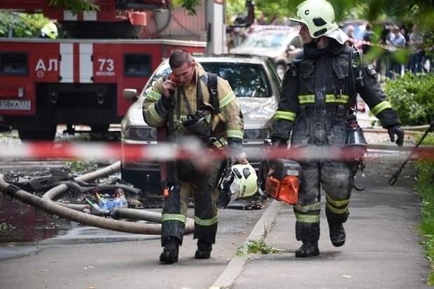 В Мытищах прогремел мощный взрыв, разрушены гаражи