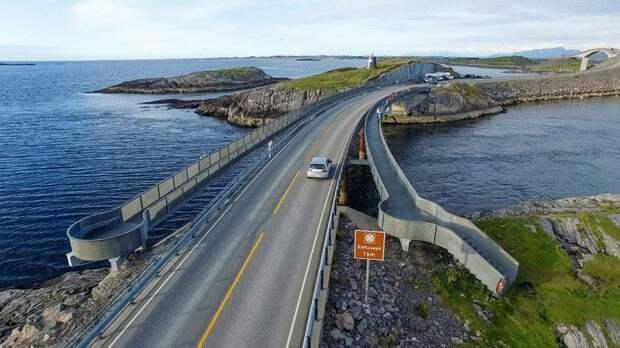 Атлантическая дорога в Норвегии: одна из самых страшных и опасных дорог в мире