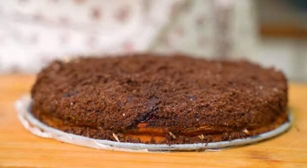 Тесто замешивать не надо. Королевский десерт без лишней возни. Шоколадная ватрушка с вишней