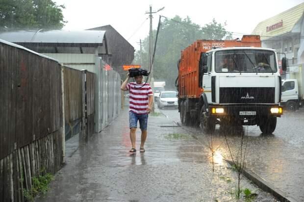 На Кубани ожидаются сильные дожди с ветром и градом