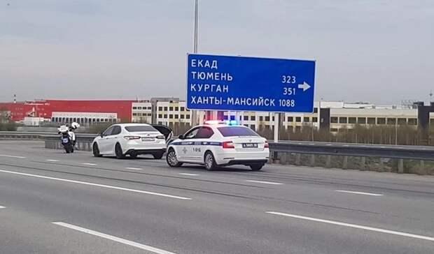 Полицейские открыли стрельбу по удиравшему на иномаркенарушителю вЕкатеринбурге