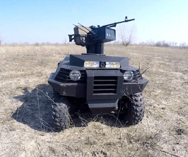 Кадры испытаний украинского робота «Ласка»