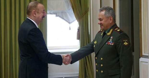 Алиев иШойгу констатировали выполнение заявления оперемирии вКарабахе